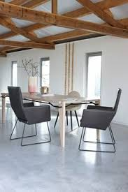 donna chairs in taurus leather dark grey with black powder coated frames dining setdining chairsdining tablepowder