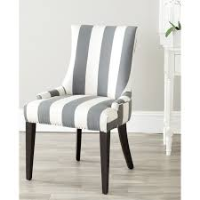 eva and white striped accent chair safavieh mercer eva and white striped dining