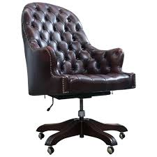 vintage office chairs for sale. Brown Office Chair Wade Chesterfield Leather Revolving Retro Vintage For Sale Desk Chairs L