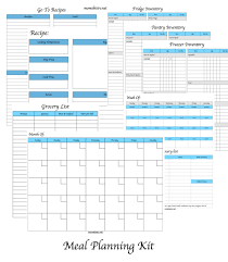 monthly meal planner template monthly meal planner template new menu planning kit printable meal