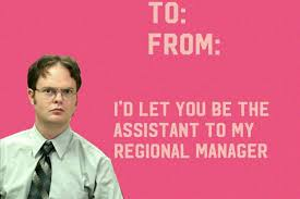 valentines ideas for the office. Valentine Meme, Valentines Day Office, Ideas, Cards, Office Quotes, Dwight Schrute, The February, Cards Ideas For