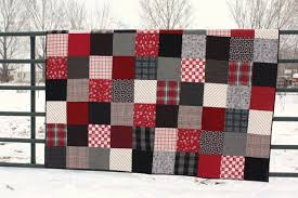 Flannel Quilt Patterns Classy Black And Red Plaid Flannel Quilt Diary Of A Quilter A Quilt Blog