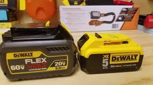 Dewalt Battery Comparison Chart Dewalt Flexvolt 20 60v Max Battery Review Dcb606