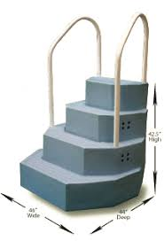 Wedding Cake Above Ground Pool Steps