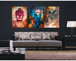 full size of furniture captivating canvas wall paintings 3 pieces buddha image portrait art painting picture