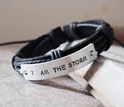 i am the storm e i am the storm bracelet i am the storm jewelry for men black leather bracelet silver