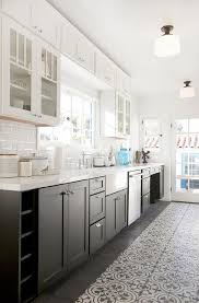 white and black kitchen cabinets. Unique And White And Black Kitchen With Glass Upper Cabinets Lower Throughout And B