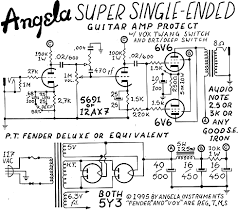 angela instruments angela super single ended 6v6 amplifier below jesse quitsland s more artistic interpretation of our schematic