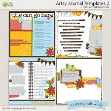 template for submissions to journal digital scrapbook template artsy journal 2 scrapping with liz