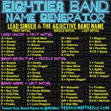 80s Rock Band Name Generator Enchanted Little World