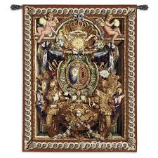 portiere du char renaissance wall tapestry ornamental design h70 x w53