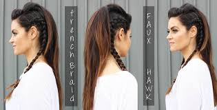Viking Hairstyle Female faux hawk hair tutorial youtube 4254 by wearticles.com