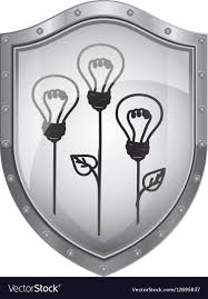 Light Bulb Shield Shield With Light Bulb Eco With Leaves