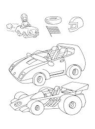 Kleurplaten Paradijs Kleurplaat Raceauto