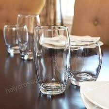 anchor hocking stemless wine glass set reality small and large drinking glasses piece
