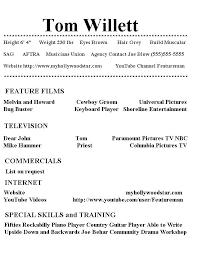 Child Actor Resume Example Kid Actor Resume Template High School