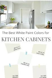 white paint color for your kitchen cabinets