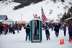 Image result for winter porta potty
