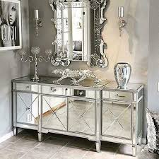 living room with mirrored furniture. classic mirror regency cabinet with silver trim living room mirrored furniture