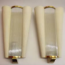 french midcentury wall sconces with glass rods from petitot