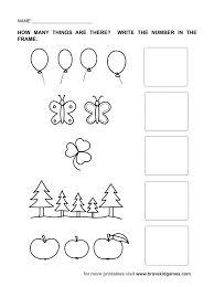 Kindergarten Worksheets For Numbers Kindergarten Worksheets ...