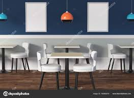 contemporary cafe furniture. Contemporary Cafe Interior With Tables, Chairs, Lamps And Empty Poster. Advert Concept. Mock Up, 3D Rendering \u2014 Photo By Peshkova Furniture U