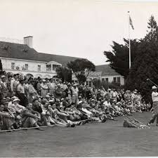 Byron Nelson conducting a golf clinic at the California Country Club] —  Calisphere