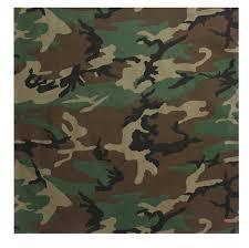 rothco woodland camouflage military jumbo bandana 27 in x 27 in com