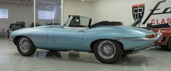 Light Blue Jaguar 1966 Jaguar Xke