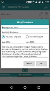 Pdf Resume Builder Resume Pdf Maker Cv Builder Apk For Android Download