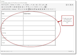 Create Sign Up Sheet Creating A Sign Up Sheet Using A Wiki