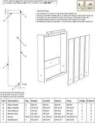murphy bed cabinet plans. Exellent Murphy Murphy Bed Cut List Throughout Cabinet Plans N