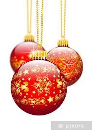 Fototapete Christbaumschmuck Weihnachtskugel Dekoration Textur Rot 3d