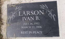 Ivan Bjarne Larson (1932-2006) - Find A Grave Memorial