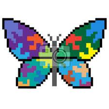 Pickaxe low poly pixel art. Pixel Art Papillon Papier Peint Papiers Peints Pixel Ailier Rectangle Myloview Fr