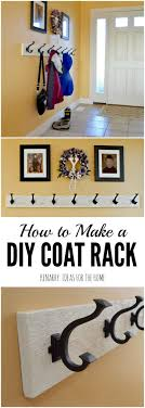 How To Hang A Coat Rack On A Wall Coat Rack An Easy WallMounted Idea With Hooks Diy coat rack 62