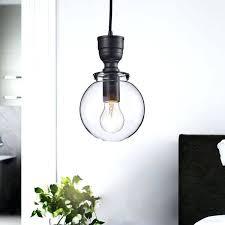 glass globe pendant chandelier mini clear in antique black light brass
