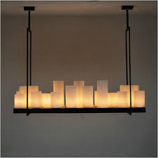 european style rectangle modern candle decorative modern chandelier iron white glass candle chandelier