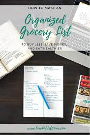 How To Make A Grocery List How To Make An Organized Grocery List To Buy Less Save