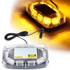 Mirror Emergency Lights 12v 24v 30 Led Mini Amber Flashing Emergency Light Bar Strobe Rotating Beacon Warning Lamp