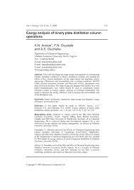 Binary Distillation Column Design Pdf Exergy Analysis Of Binary Plate Distillation Column