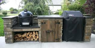 outdoor grill prep table kitchen island cart top rated gas grills surround diy