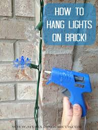 How To Hang Rope Lights On Brick How To Hang Lights On Brick In Three Easy Steps This Will