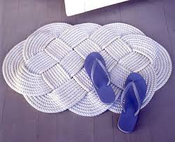 view in gallery nautical rope bathmat