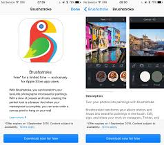 apple offers 5 photo to painting app brushstroke for free through the