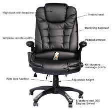 office chair controls. HomCom High-Back Executive Ergonomic PU Leather Heated Vibrating Massage Office Chair - Black Controls