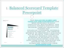 Balanced Scorecard Ppt Template Business Free