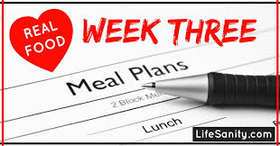 four week meal planner real food meal plan life sanity