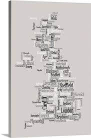 map of united kingdom made up of city names on city names wall art with map of united kingdom made up of city names wall art canvas prints