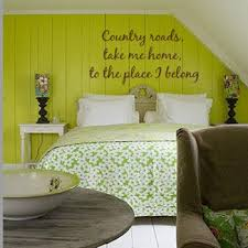 wood paneling with wall decals